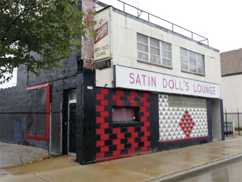 exterior shot of the Satin Doll's Lounge