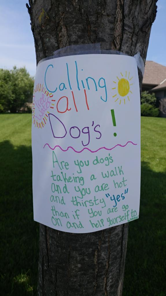 Sign for Dog Water 2018